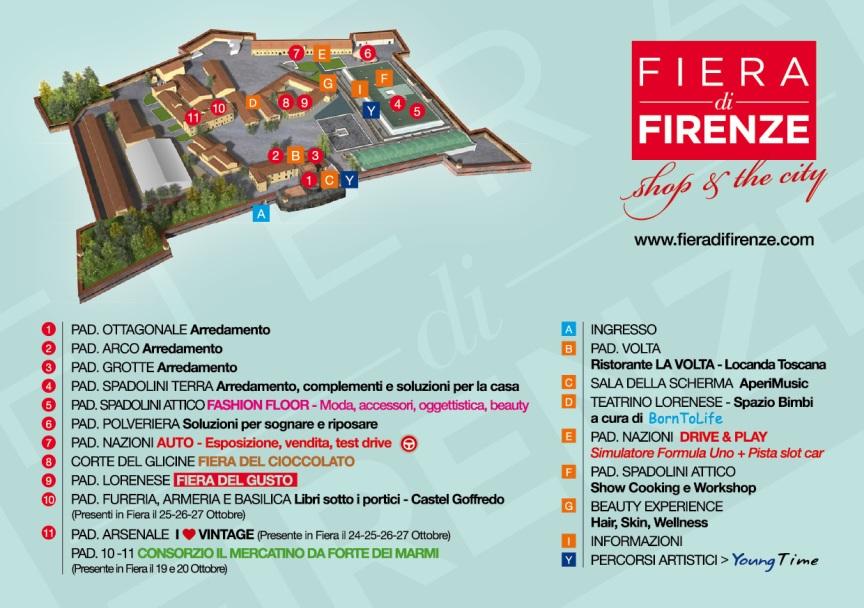 Mappa Fiera di Firenze 2013